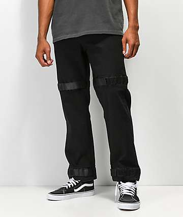 American Stitch Utility Strapped jeans negros