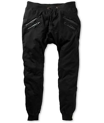 American Stitch Zipper Jogger Sweatpants
