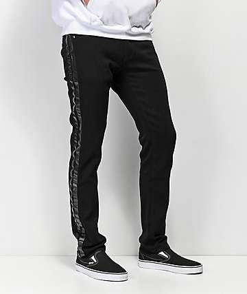 American Stitch jeans negros con rayas