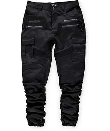 American Stitch pantalones jogger de carga negros de sarga