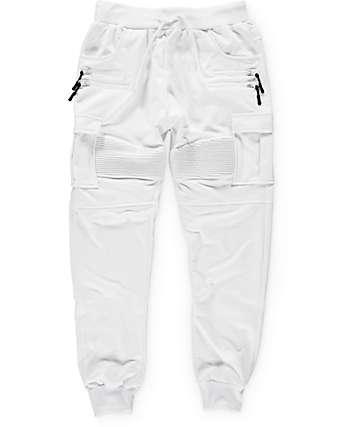 American Stitch pantalones jogger de cargo de rizo blanco