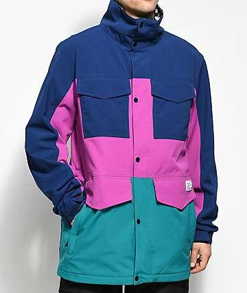 Analog Tollgate Deflate Gate 10K chaqueta de snowboard azul