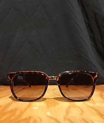 Andy Brown Tortoise Flat Top Sunglasses