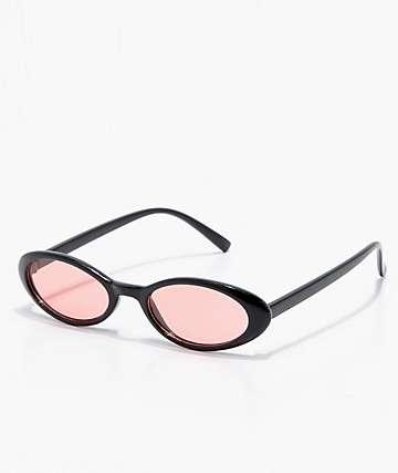 Angel Black & Red Cat Eye Sunglasses