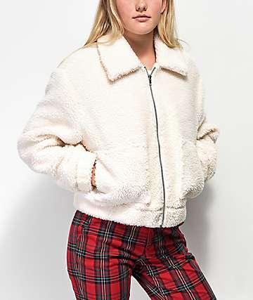 Angel Kiss Wubby chaqueta de sherpa blanca