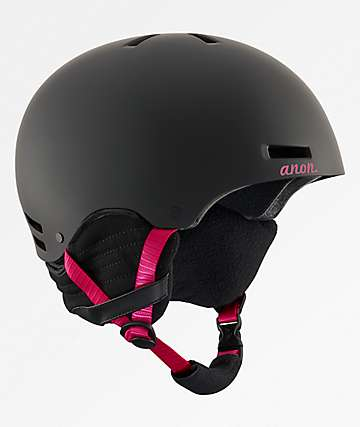 Anon Greta casco de snowboard en rojo y negro