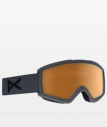 Anon Helix 2.0 Stealth Amber Snowboard Goggles