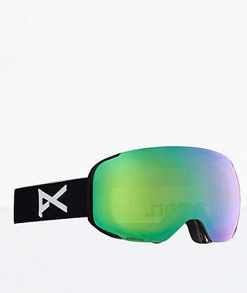 Anon M2 MFI Black SONAR Green & Infrared Snowboard Goggles