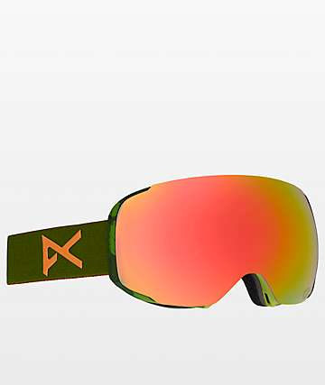 Anon M2 Mad Trees Red Solex Snowboard Goggles