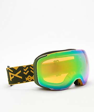 Anon M2 Native Sonar Green & Blue Snowboard Goggles