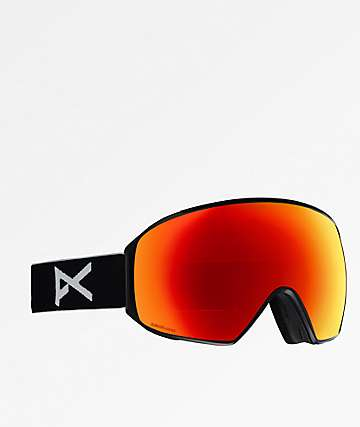 Anon M4 Toric Black & Sonar Red Snowboard Goggles