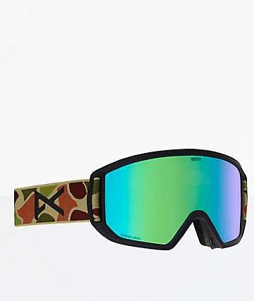 Anon Relapse Duck Camo SONAR Green Snowboard Goggles