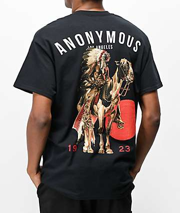 Anonymous Chief Black T-Shirt
