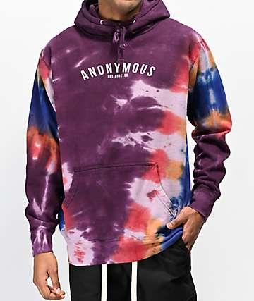 Anonymous Script Logo Tie Dye Hoodie