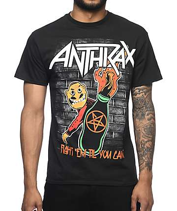 Anthrax Molotov camiseta negra