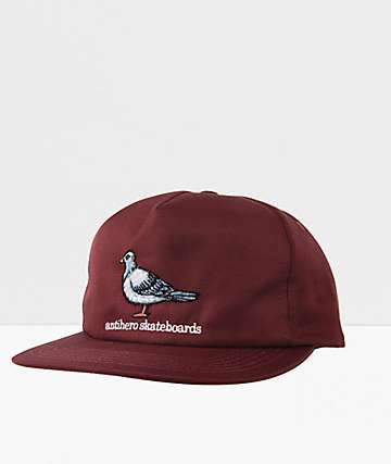 Anti-Hero Pigeon Burgundy Snapback Hat