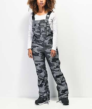 Aperture Adventure Grey Camo 10K Snowboard Bib Pants