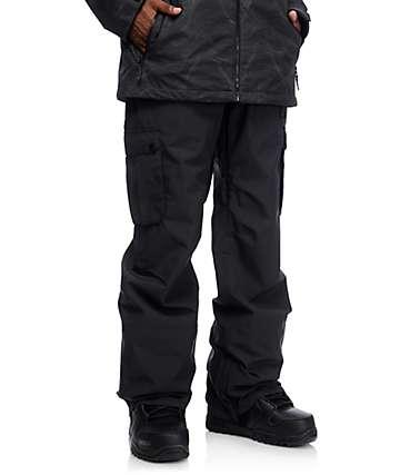Aperture Alive 10K Black Cargo Snowboard Pants
