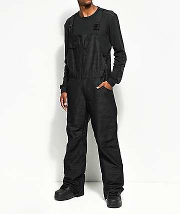 Aperture Bibber Black 10K Snowboard Bib Pants