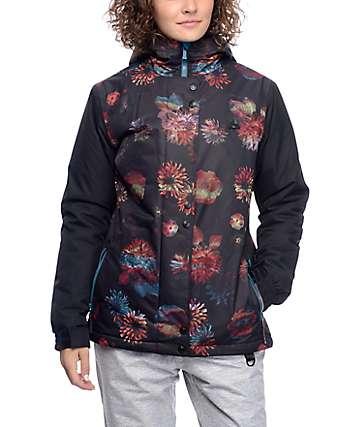 Aperture Cannon 10K chaqueta de snowboard con patrón floral negro
