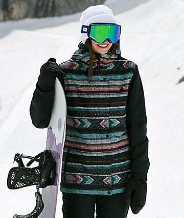Aperture Cannon 10K chaqueta de snowboard negra y tribal