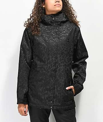 Aperture Cannon Black Leopard 10K Snowboard Jacket