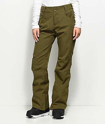 Aperture Crystaline Olive 10K Snowboard Pants