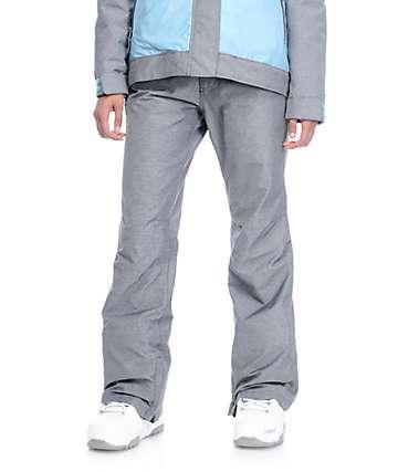 Aperture Crystaline pantalones de snowboard 10K en color carbón