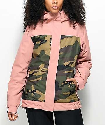 Aperture Glisten 10K chaqueta de snowboard rosa y de camuflaje