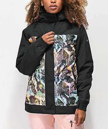 Aperture Glisten Abstract 10K chaqueta de snowboard en negro
