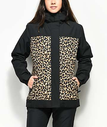 Aperture Glisten Black & Leopard Print 10K Jacket