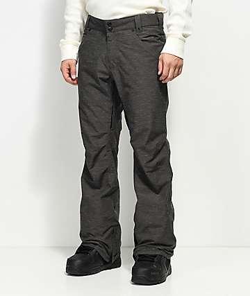 Aperture Green Line Charcoal 10K Snowboard Pants