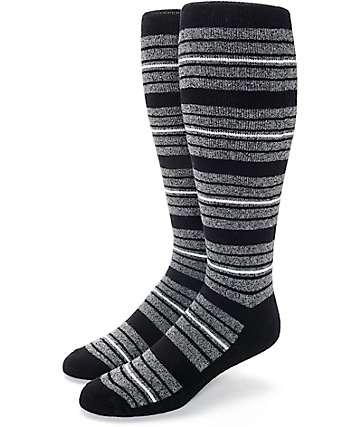 Aperture Highlight calcetines de snowboard con rayas en negro y gris