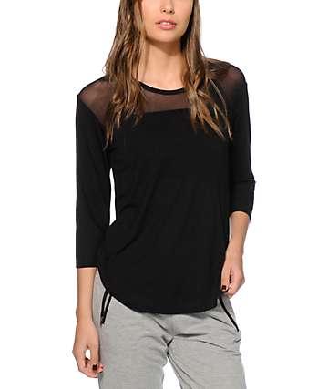 Aperture Meagan camiseta con panel de malla