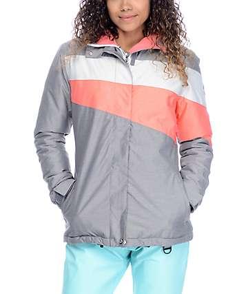 Aperture Northstar chaqueta de snowboard 10K en color coral y carbón