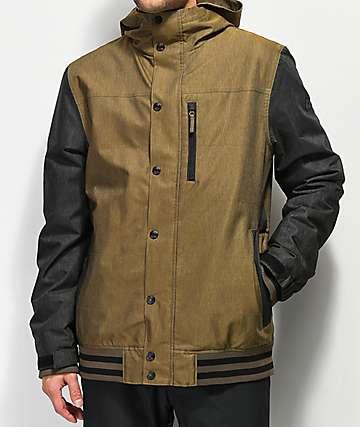 Aperture Outlaw Varsity Olive 10K Snowboard Jacket