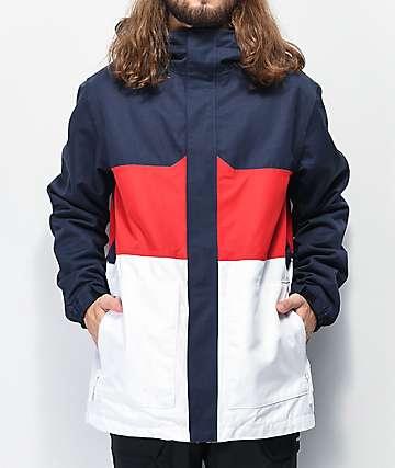 Aperture Peak Red, White & Blue 10K Snowboard Jacket