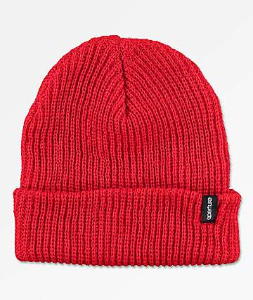 Aperture Pedro Red Slouch Beanie