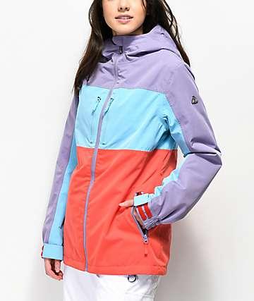 Aperture Powderhorn chaqueta de snowboard morada, azul y roja