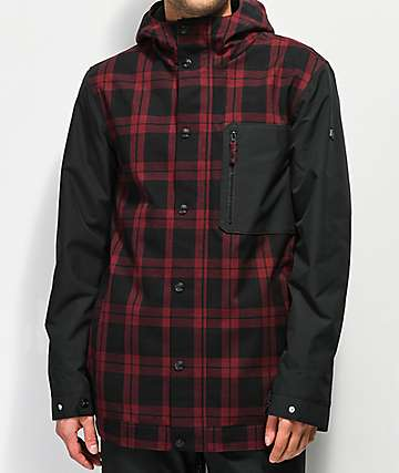 Aperture Stratus Varsity Red Plaid 10K Snowboard Jacket