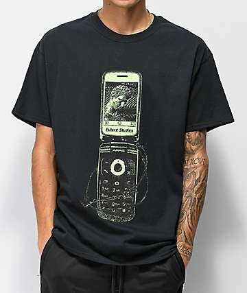 Aras Call Waiting Black T-Shirt