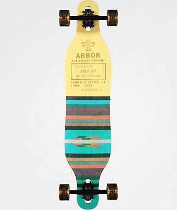 "Arbor Axis Flagship 37"" Drop Through Longboard Complete"