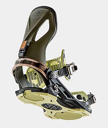 Arbor Brown Cypress Snowboard Bindings 2019