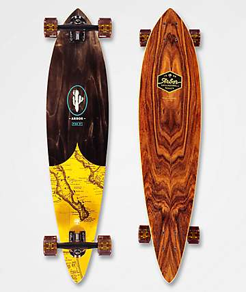 """Arbor Fish Groundswell 37"""" Pintail Longboard Complete"""