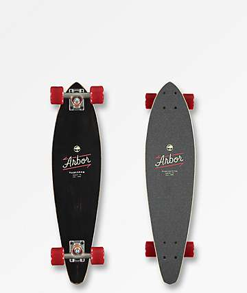 "Arbor Hawkshaw Micron 29"" Mini Pintail Cruiser Complete Skateboard"