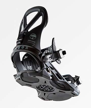 Arbor Hemlock Black Snowboard Bindings 2019