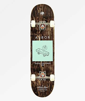 "Arbor Whiskey Team Artist Collaboration 8.0"" Skateboard Complete"