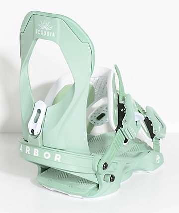 Arbor Womens Sequoia Mint Snowboard Bindings