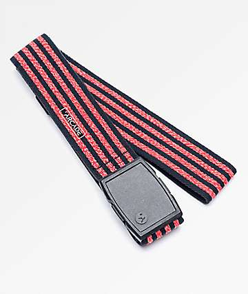 Arcade Don Carlos Black & Red Clip Belt