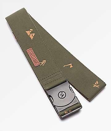 Arcade Packer Green & Grey Clip Belt